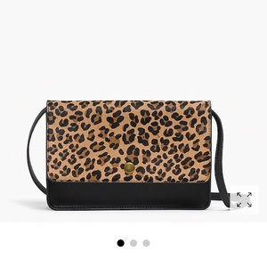 J Crew Cheetah Cross Body Bag